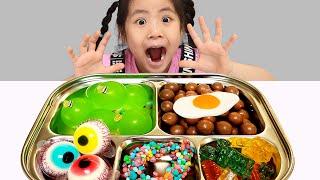 서은 VS 엄마 식판대결 서은이의 초콜렛 젤리 식판 롤링 돌림판 식판 만들기 먹방 Seoeun VS Mommy Food Tray Contest Mukbang