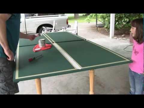 Comment fabriquer une table de ping pong en beton soi m doovi - Fabriquer table de ping pong ...