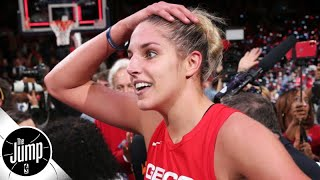 Praising Elena Delle Donne for winning the WNBA title with three herniated discs | The Jump