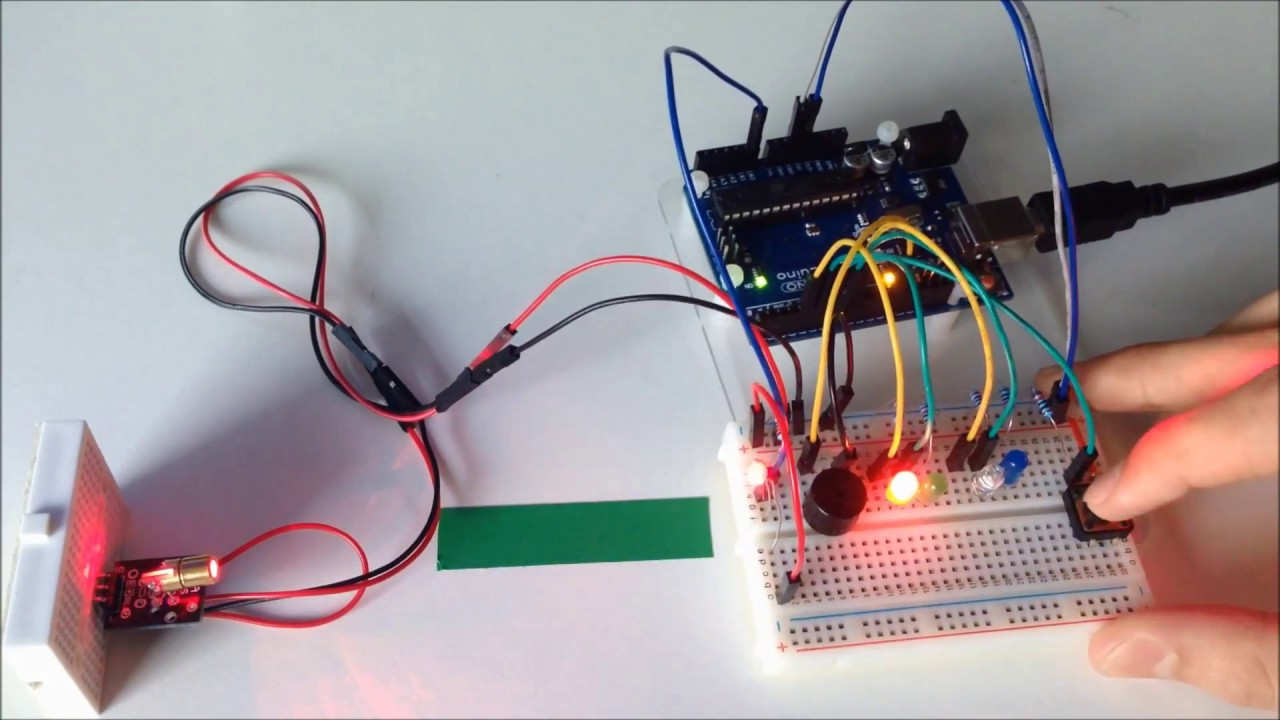 How To Make A Laser Security System With Arduino  Tutorial