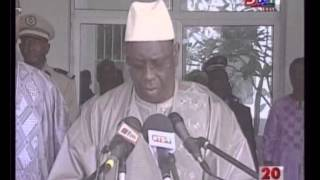 [Vidéo] Matam-Conseil interministériel Déclaration du Chef de L'Etat Macky Sall