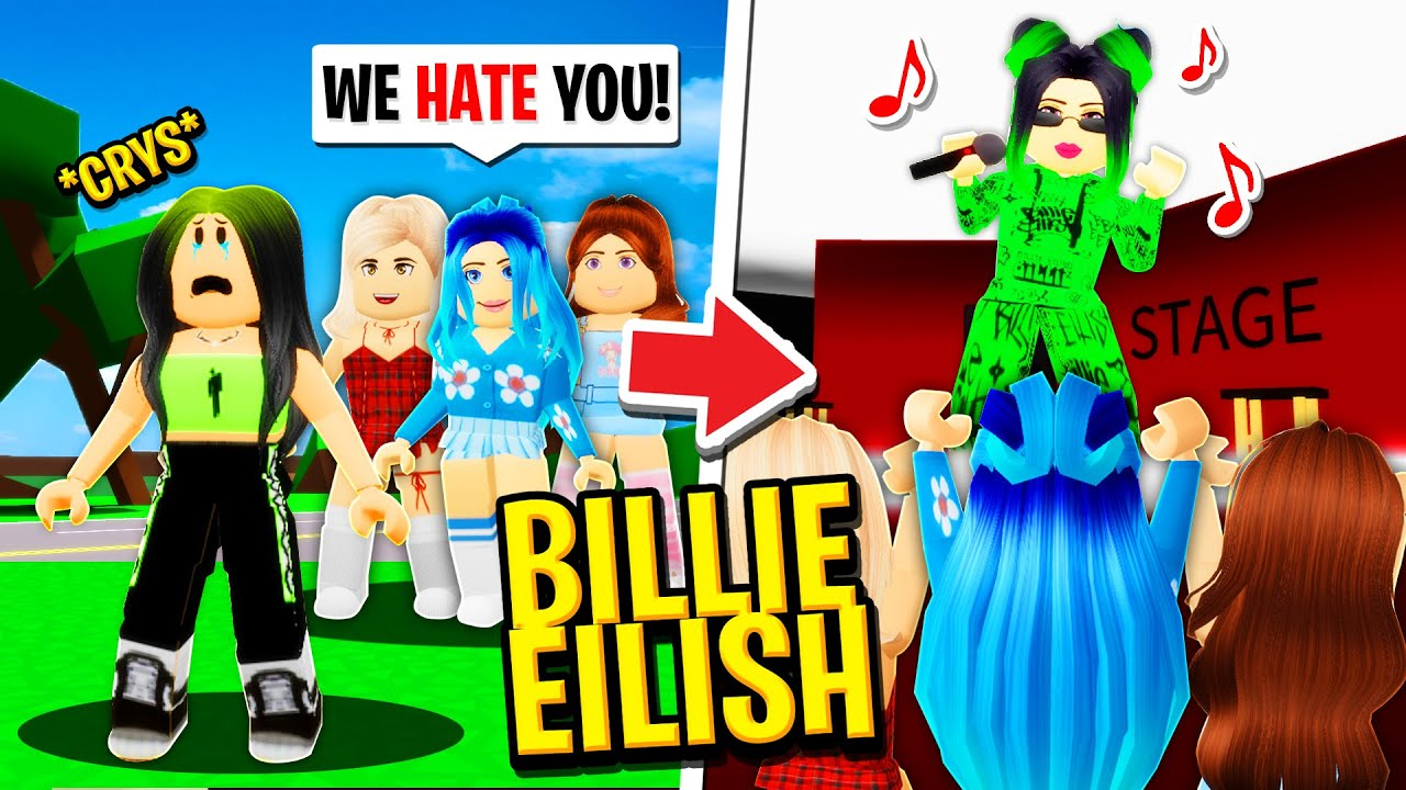 The HATED CHILD becomes BILLIE EILISH in Roblox BROOKHAVEN RP!!