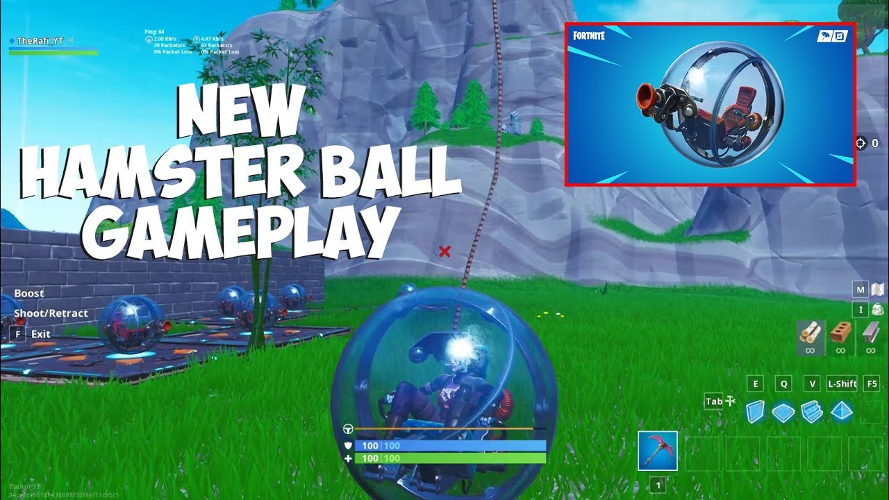 Fortnite New Vehicle Hamster Ball Fortnite Aimbot 2019 Ps4