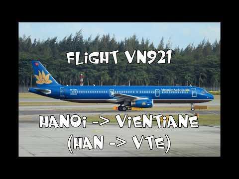 TRIPREPORT | BUSINESS | VIETNAM AIRLINES | VN921 | AIRBUS A321 | HANOI - VIENTIANE (HAN - VTE)