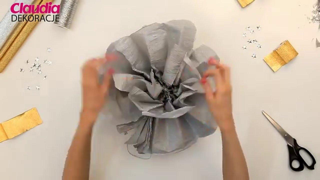 Dekoracje Sylwestrowe Diy Pompon Z Krepiny Youtube