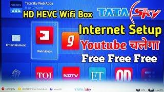 Tata Sky Internet Set Top Box Wifi Setup, Tatasky Web App Review, How To Connect TataSky To Internet