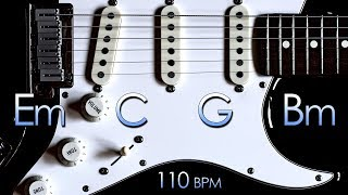 Energetic Rock Guitar Backing Track E Minor