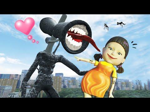 เฮด...การ์ตูนไซเลน...กับ ตุ๊กตา ..?? NEW  Cartoon Sirenhead