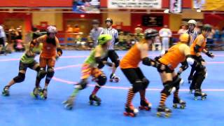 WFTDA 2010  Eastern Regionals Montreal vs Dutchland - Iron Wench I