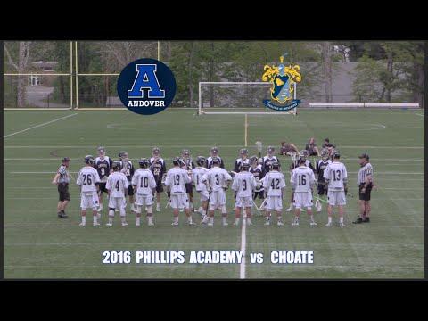 2016 Phillips Andover Lacrosse vs Choate