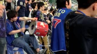 応援団の太鼓がリズミカルで心地良い!