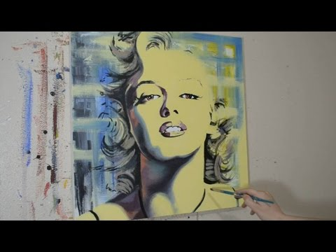 Painting a Portrait of Marilyn Monroe