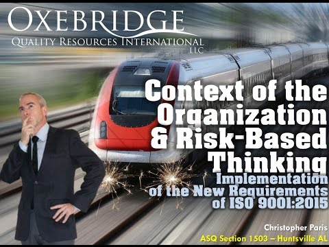 Iso Context Of The Organization And Risk