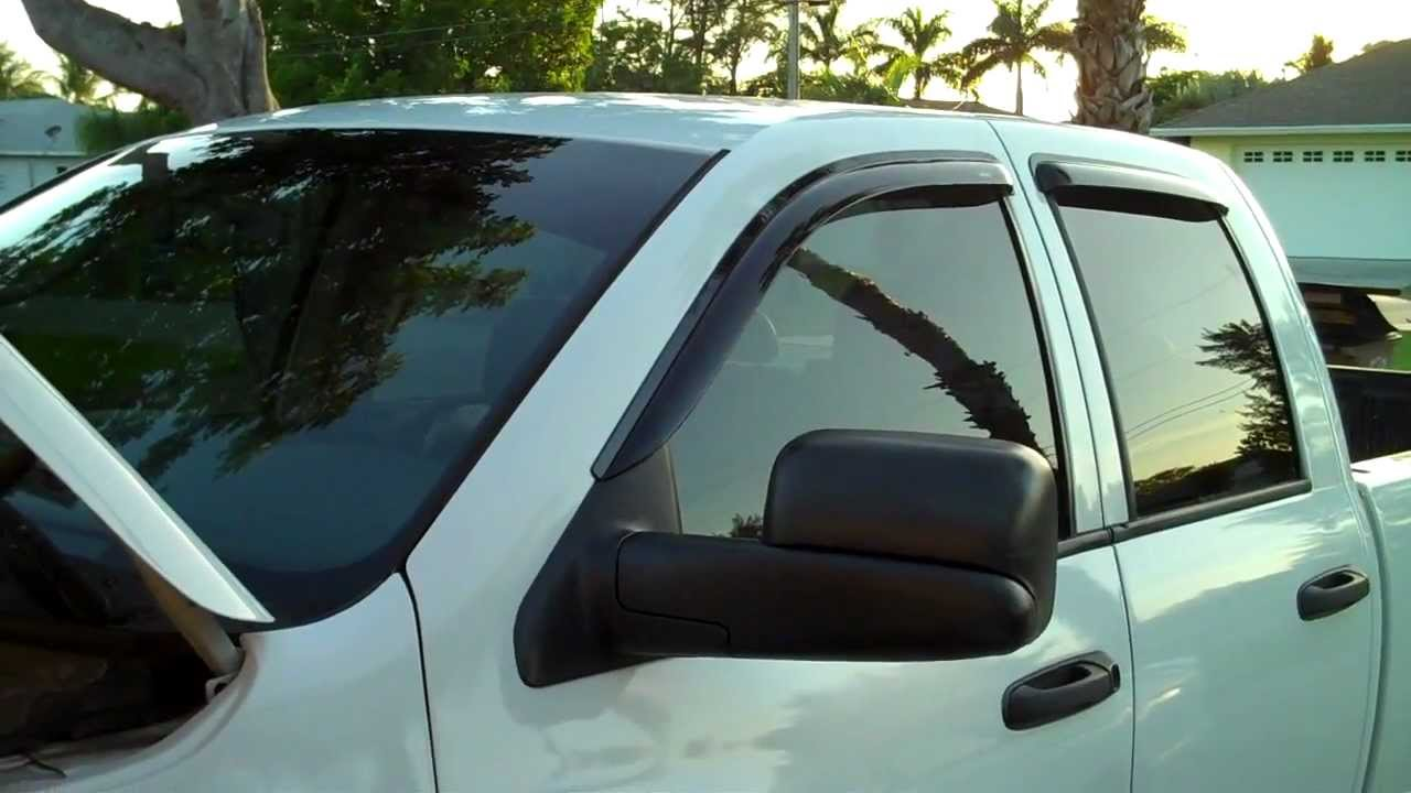 Avs Vent Shades >> Avs Vent Visor Install 2003 2004 2005 2006 2007 Dodge 2500 Crew Cab