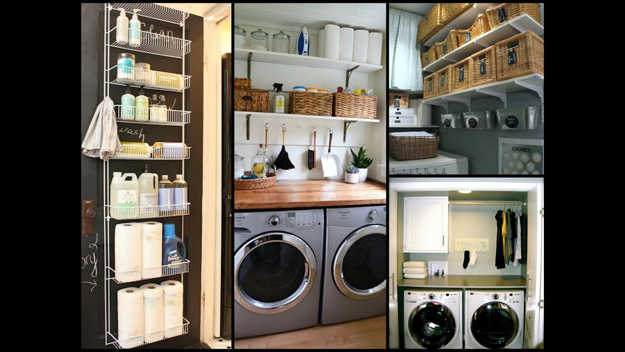 Small Laundry Room Organization Tips - DIY Home Organization Ideas - YouTube