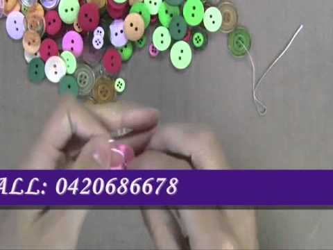 How to make Button Necklaces Brisbane