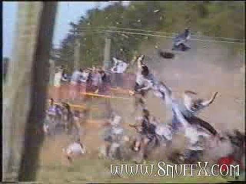 Race Car Crash Into Crowd Youtube
