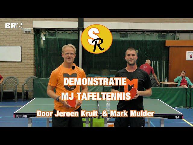Sport Report: Tafeltennisdemonstratie Jeroen Kruit & Mark Mulder
