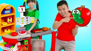 [13.13 MB] Emma Pretend Play Shopping w/ Kids Grocery Supermarket Food Toy Store