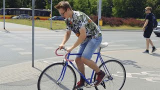 Nowy rower na którym nikt nie umie jeździć