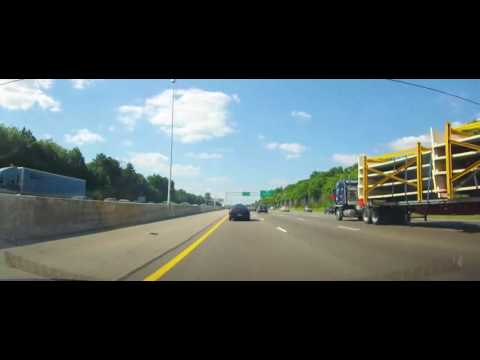 Driving on Interstate 71 from Downtown Columbus to Strongsville, Ohio
