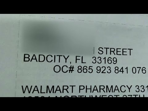 'Bad City, Florida' Winds Up On Walmart Pharmacy Label