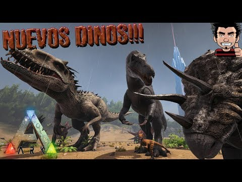 ARK SURVIVAL EVOLVED NUEVOS DINOSAURIOS JURASSIC PARK  EXPANSION MOD gameplay español