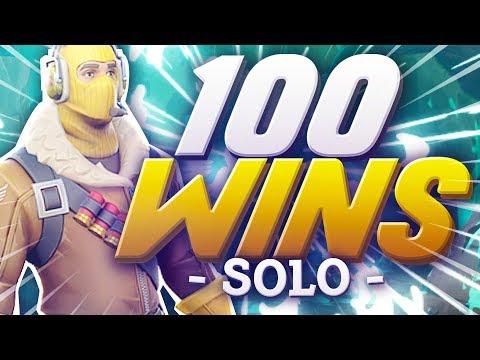 100 WINS EN SOLO | FORTNITE BATTLE ROYALE