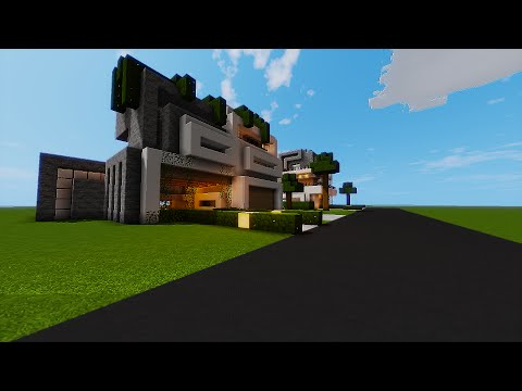 Minecraft Art: Modern Architecture Edition With Shaders
