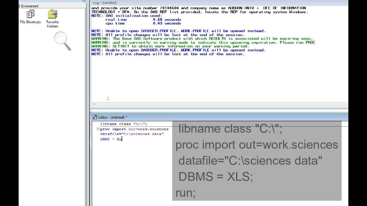 worksheet Sas Import Excel Worksheet importing excel file into 64 bit sas youtube sas