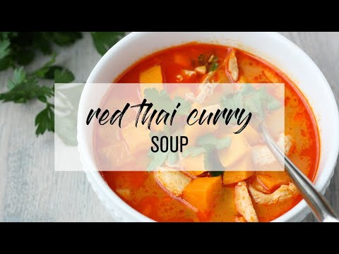 Red Thai Curry Soup with Sweet Potatoes