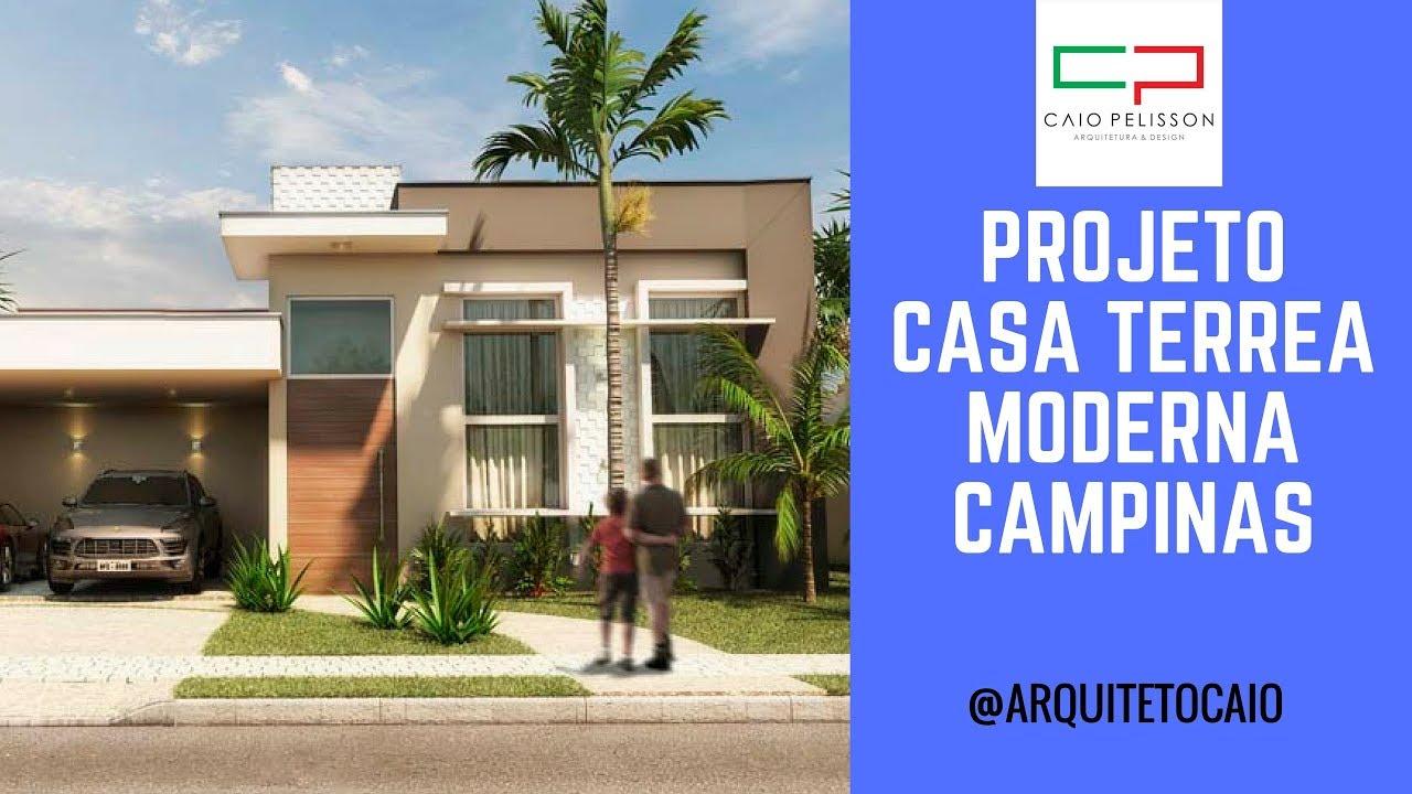 Projeto casa t rrea moderna 200 metros condom nio campinas for Casa moderna zurigo