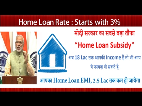 Subsidy on Home Loan, Home Loan Subsidy till 18 Lac Income Explained....!!