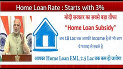 Subsidy on Home Loan, Home Loan Subsidy till 18 Lac Income Explained..!!