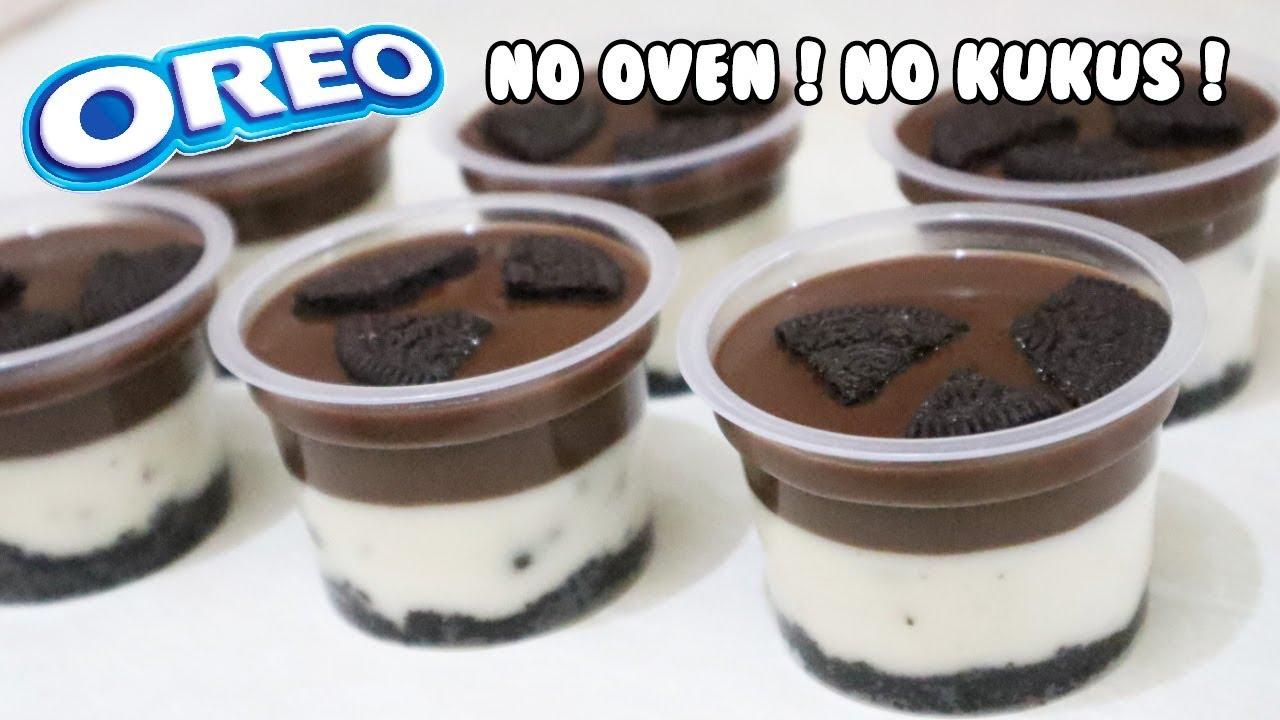 Resep Puding Oreo Coklat Lumer Oreo No Bake Dessert Youtube