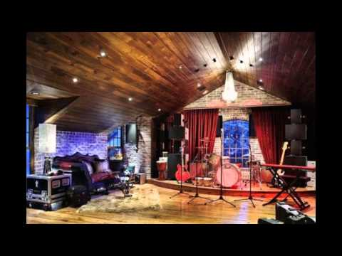 Home music studio design decorating ideas - YouTube