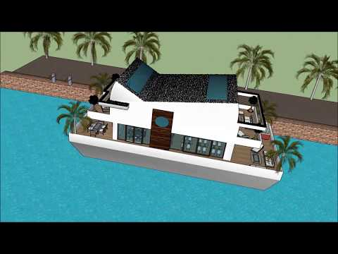 Contemporary Houseboat floating in Marina Cape Town SOUTH AFRICA Super Mega Yacht Rental luxury Sanc