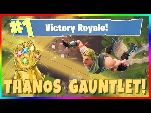 FORTNITE INFINITY GAUNTLET GAMEPLAY! Play as Thanos in Fortnite Battle Royale Special Event!