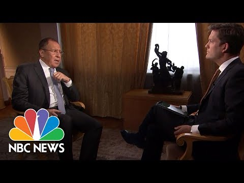 Russia's Sergei Lavrov: There's A 'Fight' In U.S. To Make Donald Trump 'Miserable' | NBC News