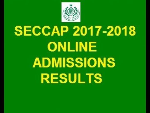 SECCAP 2017-2018 Online Karachi Colleges Admissions Result list