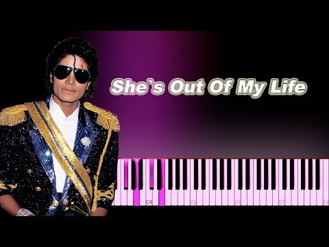 Michael Jackson - She's Out of My Life - Piano Tutorial + MIDI / Sheet Music thumbnail