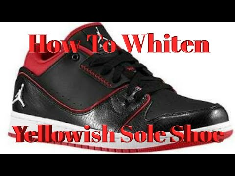 How to Clean A Yellowish Jordan Shoe Sole (Tagalog Vers.)