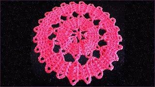 Круг крючком. Брюггское кружево. Вязание кружева. Ч. 2 (Bruges lace. P. 2)