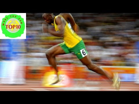 World Top Ten Fastest 100 Meter Sprinters in History