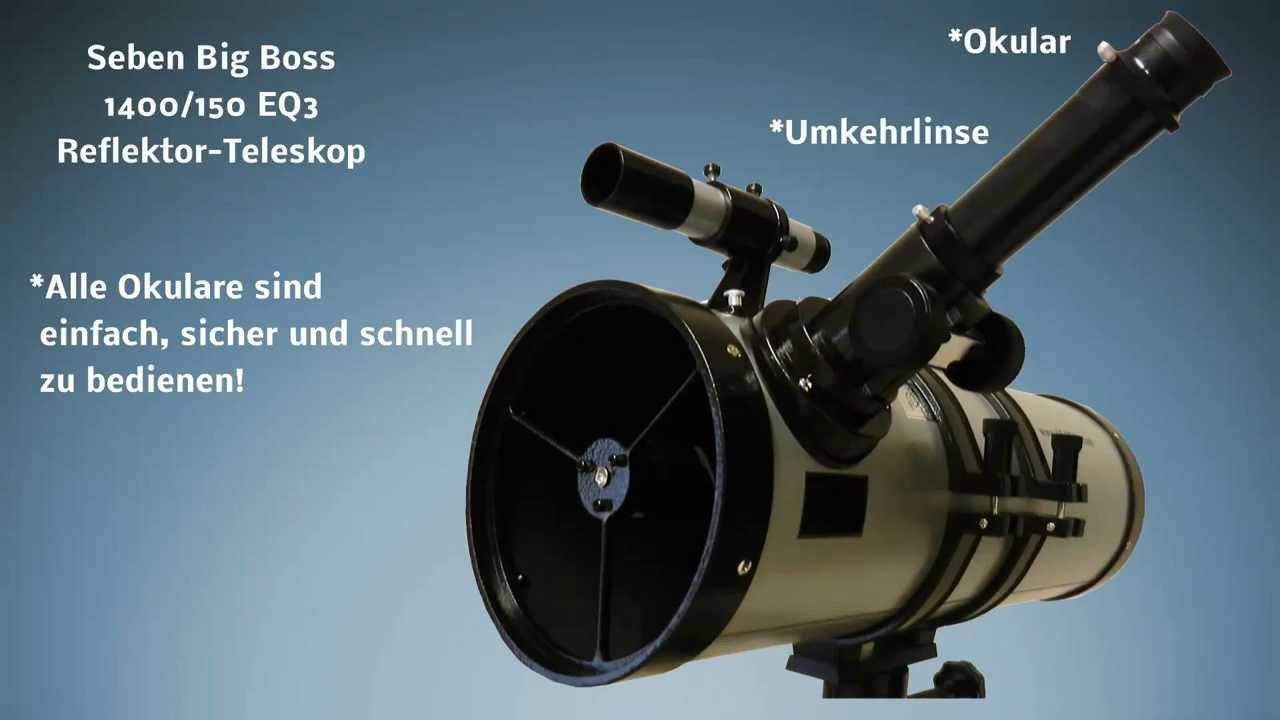 Seben big boss eq reflektor spiegel teleskop youtube