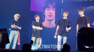 180906 selling out staples final ment @ bts 방탄소년단 love yourself tour in la fancam 직캠