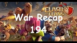 Clash of Clans War Recap 194 - Peanutz - 11 win streak!