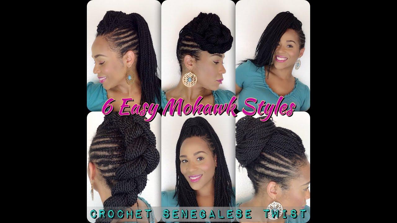 6 Easy Mohawk Styles Senegalese Twist Tia Kirby Youtube