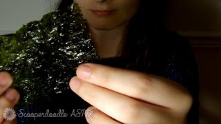Seaweed Snacks ASMR ~ Binaural eating sounds, crinkles, crackling, crunchy, whispering