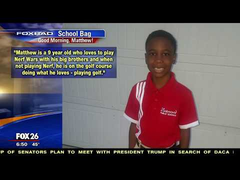 "Fox26 Houston Mention of Harmony Student During ""School Bag"" Segment"